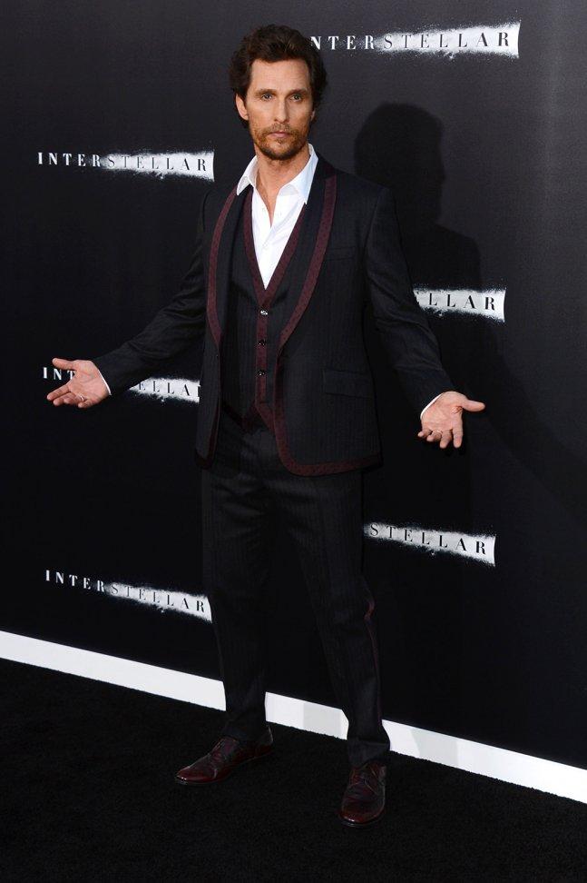 matthew2 Matthew McConaughey In  Dolce & Gabbana    'Interstellar' Hollywood Premiere