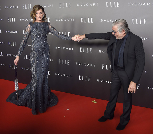 he supermodel was on hand to present Roberto Cavalli with the 'Best International Fashion Designer' award.