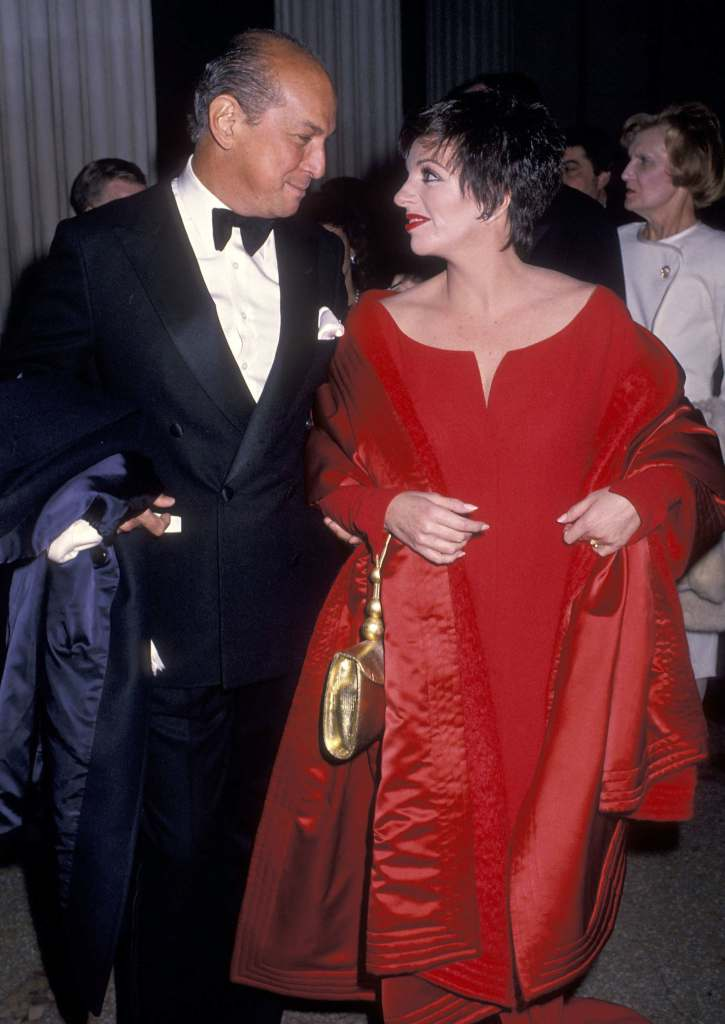 Oscar De La Renta And Liza Minnelli, 1989