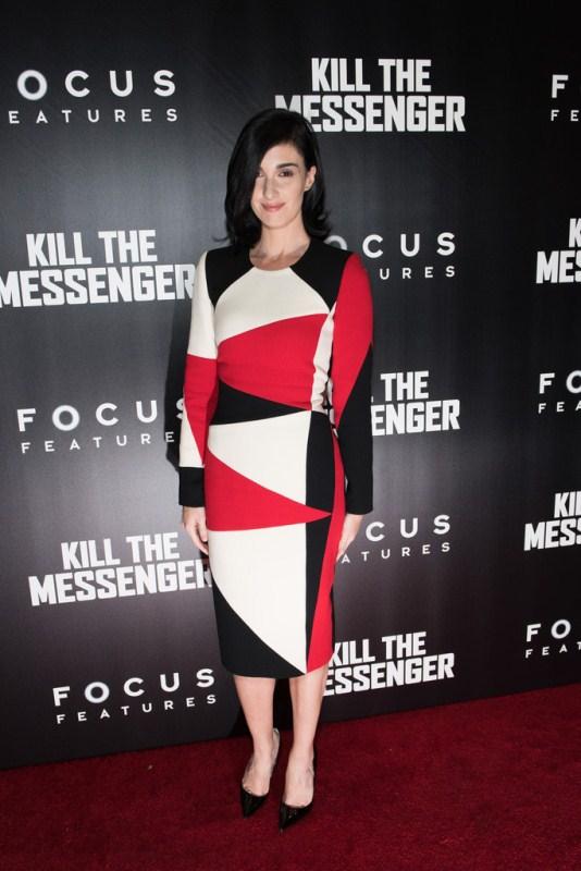 paz vega kill the messenger nyc screening fausto puglisi dress Paz Vega  in Fausto Puglisi    Kill The Messenger New York Screening