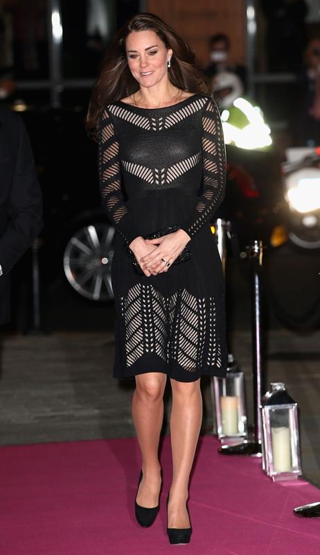 princess catherine 23oct14 06 Catherine  Duchess of Cambridge In Temperley London – Action on Addiction Autumn Gala