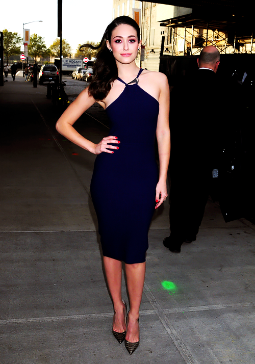Emmy- Rossum -In -Halston- Heritage – Late Night- with- Seth- Meyers