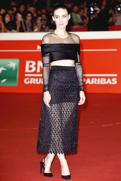Rooney- Mara -in -Balenciaga - 'Trash' -9th- Rome- Film -Festival- Photocall- & -Premiere