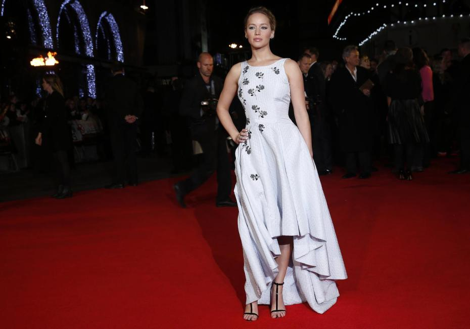 Jennifer Lawrence In Christian Dior – 'The Hunger Games: Mockingjay – Part 1′ London Premiere