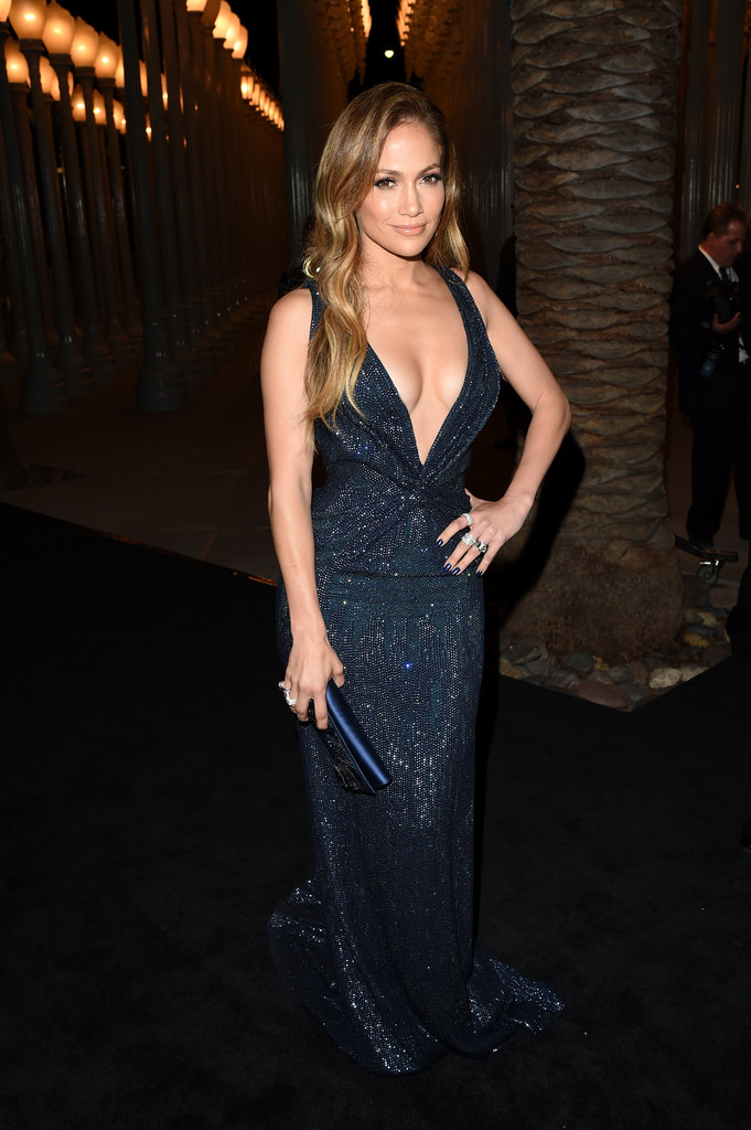 Jennifer-Lopezs-2014-LACMA-Awards-red-carpet-Navy-Gucci-Sequined-Halter-Gown