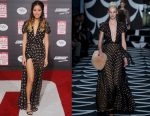 "Jamie Chung in Diane Von Furstenberg at the ""Big Hero 6"" Hollywood Premiere"