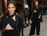 Jennifer Lopez In Noon by Noor, Milly & Paule Ka – Late Show With David Letterman