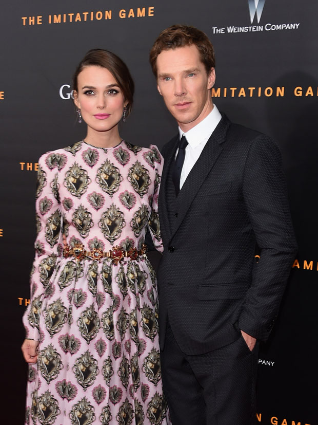 """ Keira Knightley In Dolce & Gabbana – 'The Imitation Game' New York Premiere"