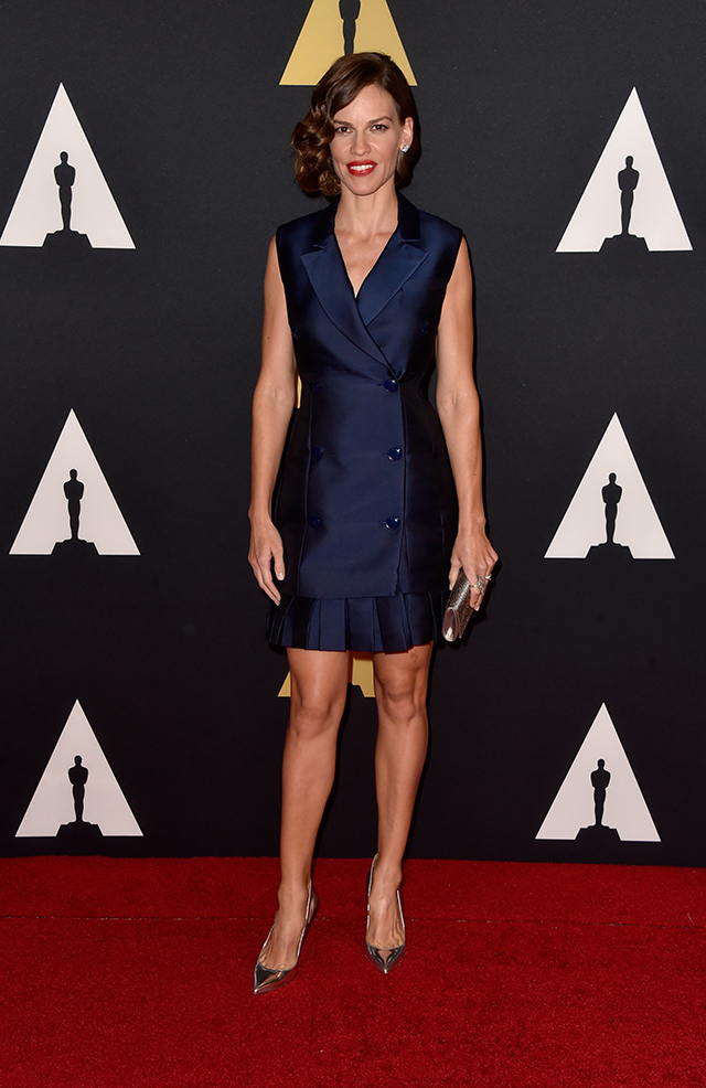 Hilary -Swank -Academy- Of -Motion- Picture -Arts And -Sciences'- 2014- Governors- Awards -