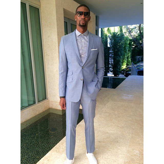 Chris-Bosh-Waraire-Boswell-suit-2014-nba-season-opener