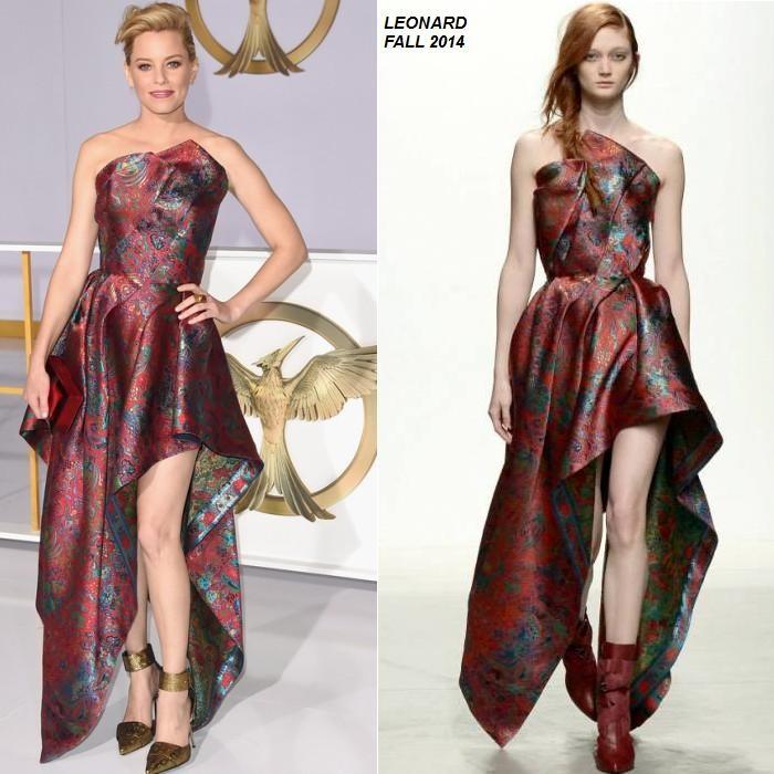 """Elizabeth Banks wears Leonard at """"The Hunger Games: Mockingjay - Part 1"""" LA Premiere"""