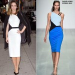 Emily Blunt wears  David Koma & Tory Burch – Late Show With David Letterman