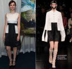 Felicity Jones In Alexander McQueen – 2014 Variety Screening Series of 'Theory Of Everything'
