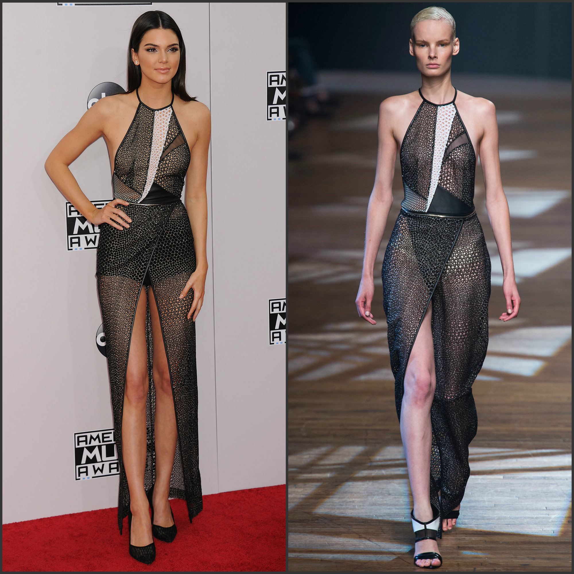 Kendall-Jenner-in-Yigal-Azrouel-2014-American-Music-Awards