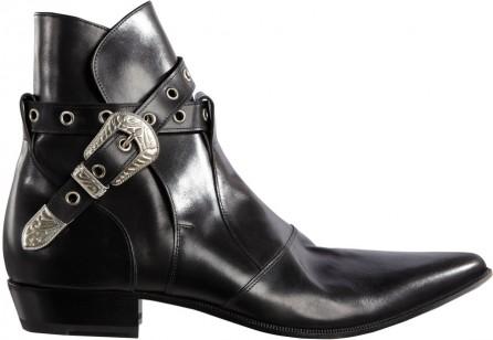 Saint-Laurent-black-western-buckle-ankle-boots-5-446x308