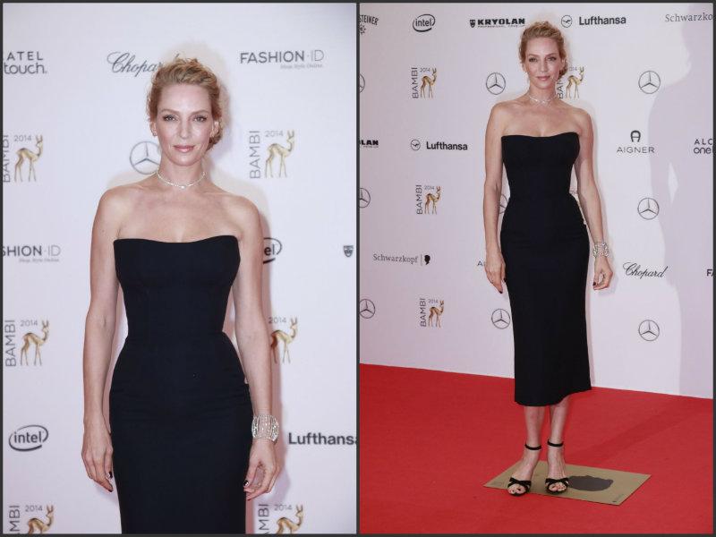 Uma- Thurman0in-Atelier- Versace-2014-Bambi-Awards