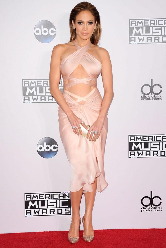 Jennifer Lopez In Reem Acra – 2014 American Music Awards