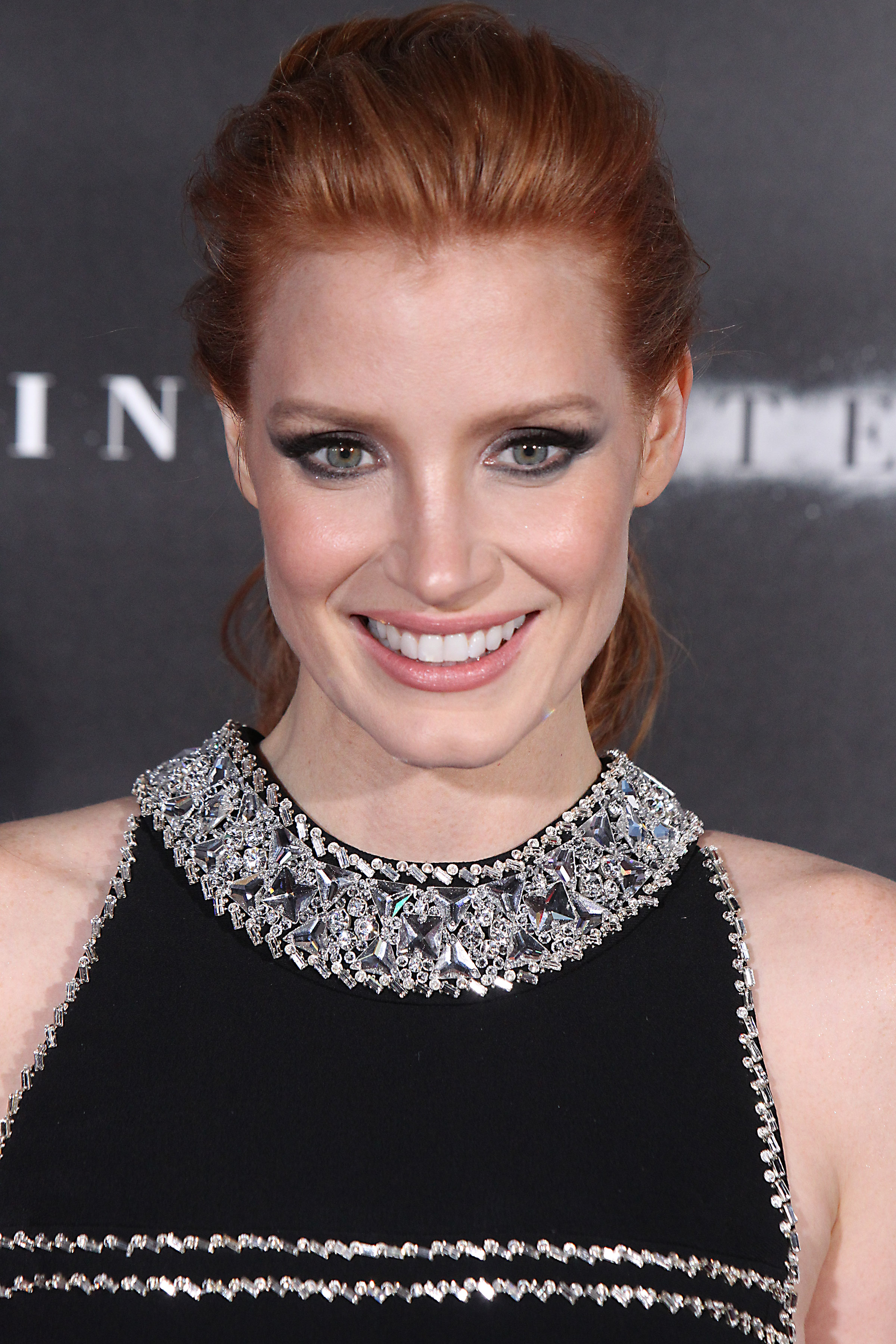 Jessica Chastain walks the red carpet at the 'Interstellar' premiere at the AMC Lincoln Square in NYC