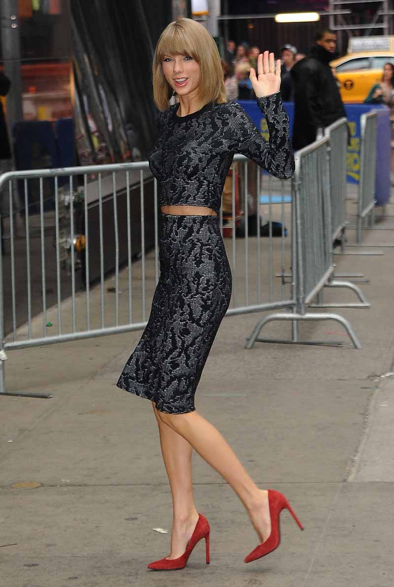 Taylor Swift Wears Calvin Klein Collection Good Morning America Fashion Sizzle