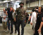 Lebron James wears Valentino sweatshirt at Miami Heat Arena