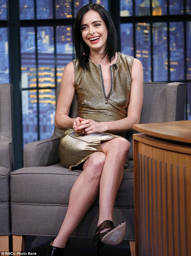 krysten-ritter-versace-late-night-seth-meyers