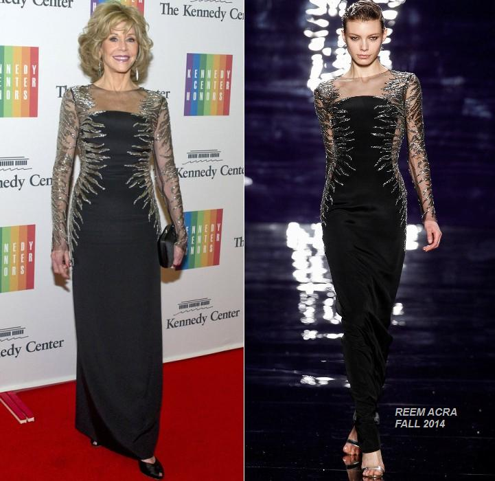 Jane- Fonda- wears- Reem -Acra -at -the- 2014 -Kennedy -Center- Honors- Gala- Dinner
