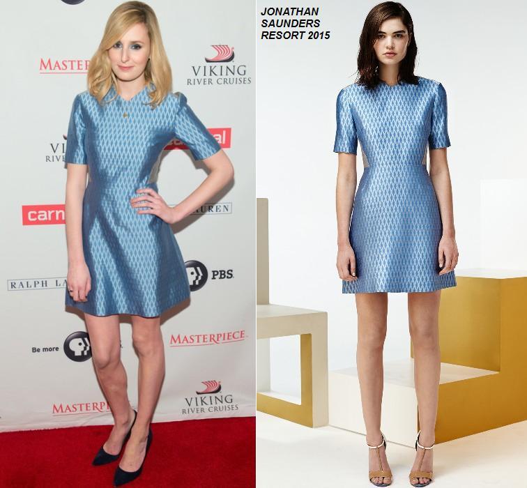 Laura -Carmichael- wears - Jonathan -Saunders – 'Downton -Abbey' -Season- Five