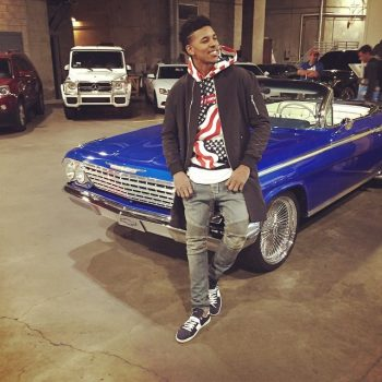 Nick-Young-wears-Fear-of-God-LA-jacket-Supreme-Hoodie-Balmain-Jeans-and-Saint-Laurent-low-top-sneakers-shoes-640×640