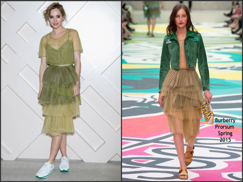 Suki-Waterhouse-wears-Burberry Prorsum-The Burberry-Beauty-Box