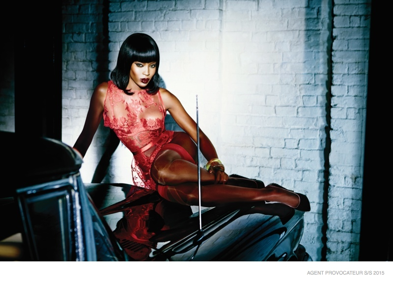 Naomi Campbell stuns in Agent Provocateur Spring 2015 Ads ...