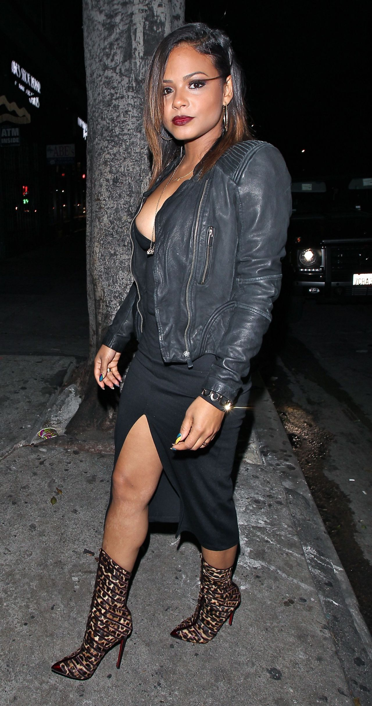 Christina Milian Night Out Style – Warwick Club in Los Angeles, Dec. 2014