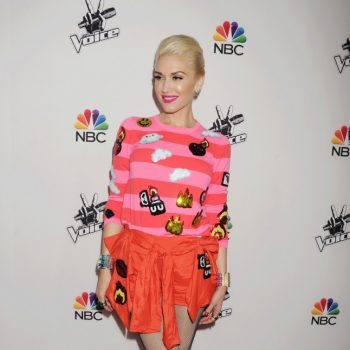hot-or-hmm-gwen-stefanis-la-the-voice-red-carpet-event-custom-sequin-emoji-striped-top-and-shorts-1-646×1000