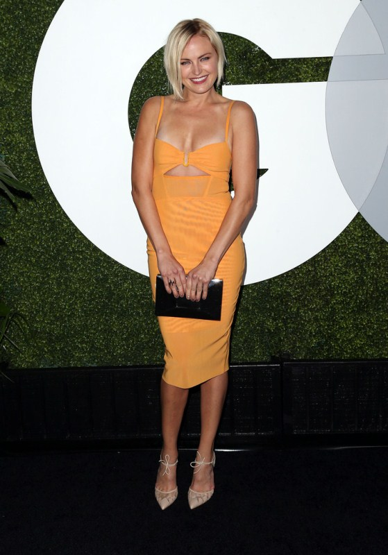 malin-akerman-gq-men-of-the-year-party-bec-and-bridge-dress-bionda-castana-pumps