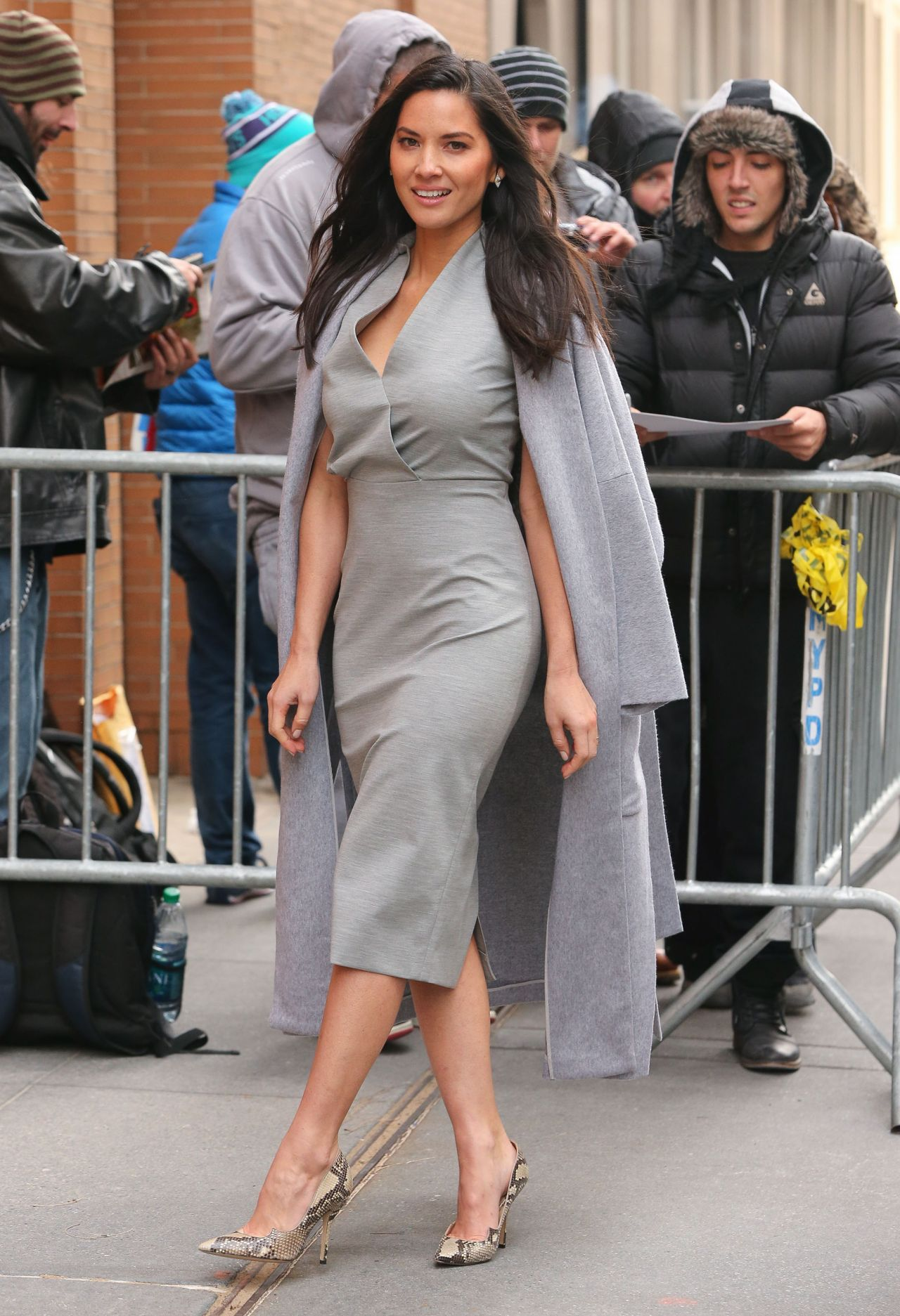 Olivia Munn – Outside 'The View' in New York City – December 2014