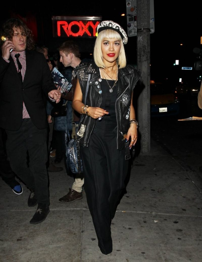 Rita Ora Night Out Style – Leaving the Roxy in West Hollywood – dec. 2014