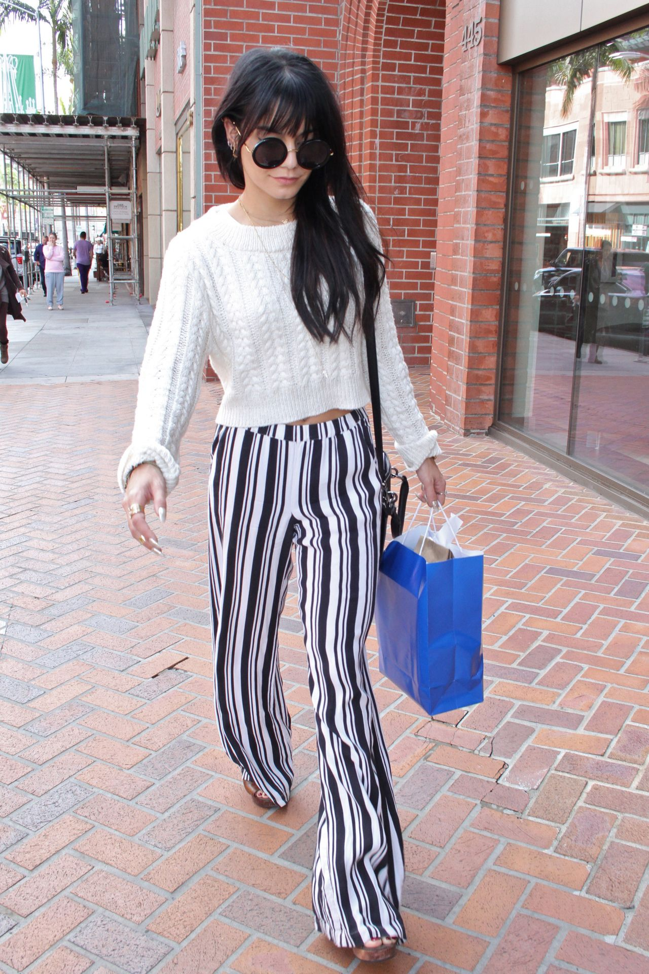 Vanessa Hudgens Street Style – Shopping in Beverly Hills – December 2014