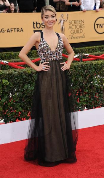 Sarah- Hyland -in -Vera -Wang at the 21st Annual Screen- Actors- Guild- Awards