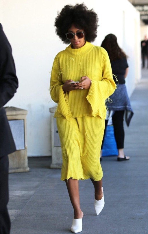 Solange- Knowle in-Marques'-Almeida- at- LAX- Airport