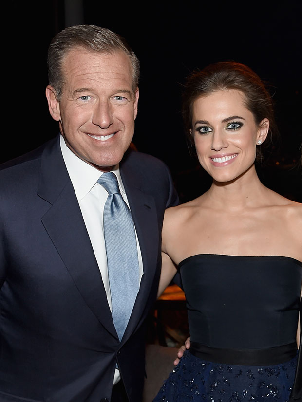 Brian Williams with his daughter Allison Williams