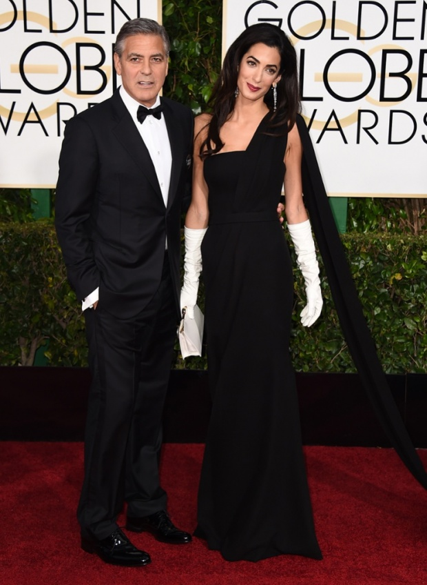 Amal- Clooney -george-clooney-72nd- Annual Golden -Globe- Awards - Arrivals