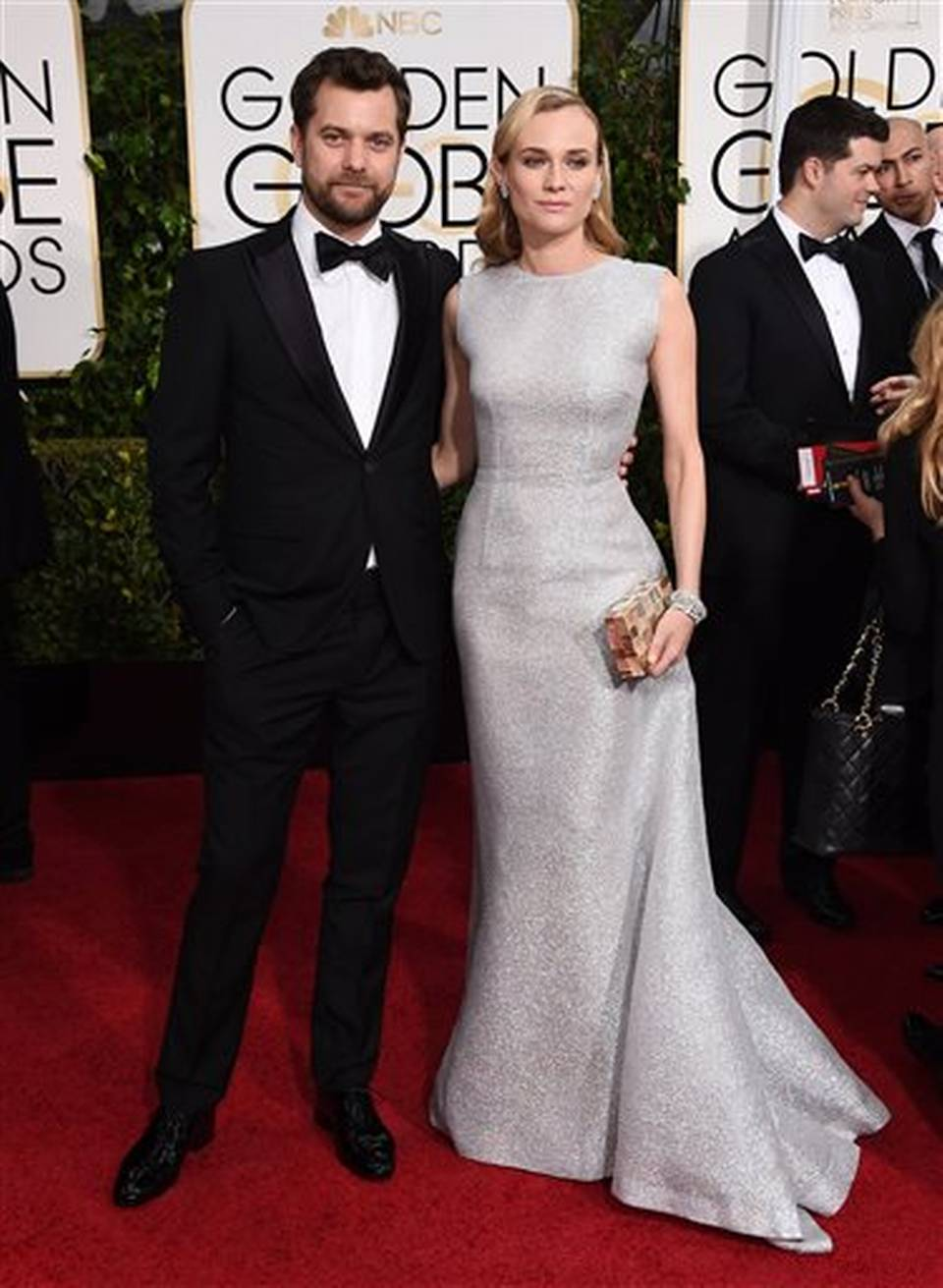 Diane Kruger and Joshua Jackson attend the 72nd Annual Golden Globe Awards at The Beverly Hilton Hotel on January 11, 2015 in Beverly Hills, California.