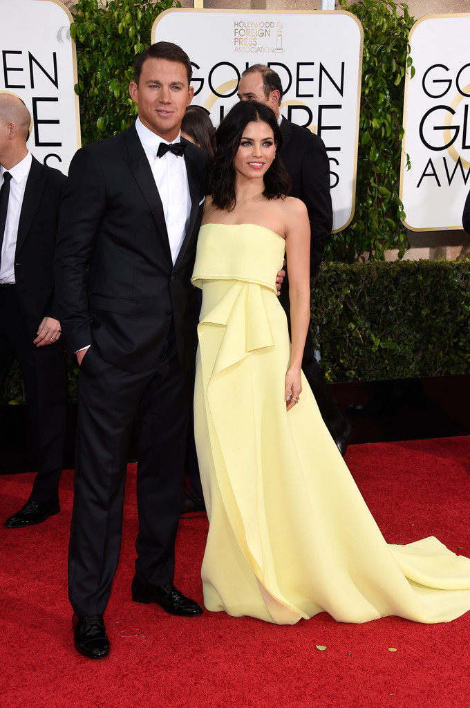 Channing Tatum pictured with is wife , is wearing Dolce & Gabbana