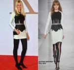 Claudia Schiffer  wears  Antonio Berardi – 'Kingsman: The Secret Service' World Premiere