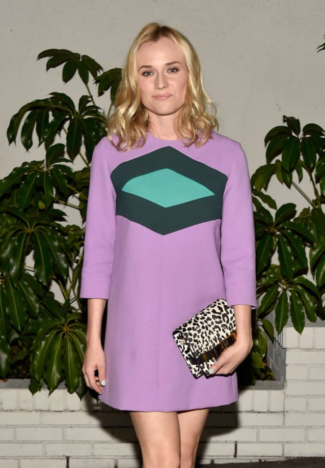 Diane Kruger wears Marni at the 2015 W Magazine Golden Globes Celebration