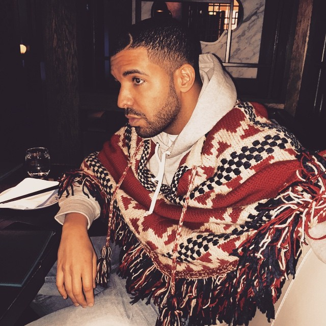 Drake-styles-wearing-Chanel-Poncho-Sweater-640×640