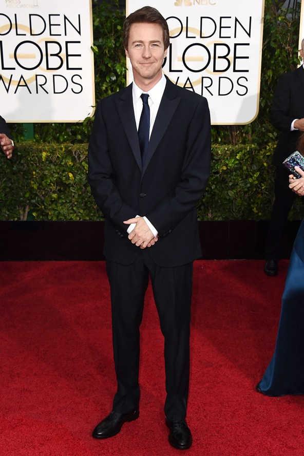 Edward Norton in a Calvin Klein Collection suit