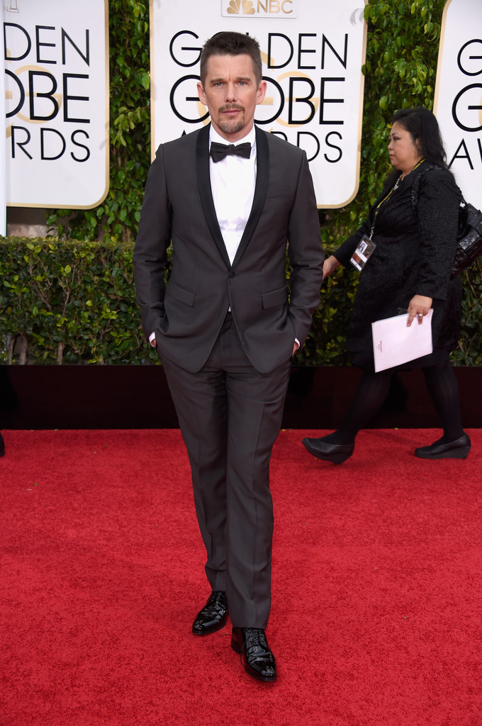Ethan Hawke in a grey Dior Homme suit