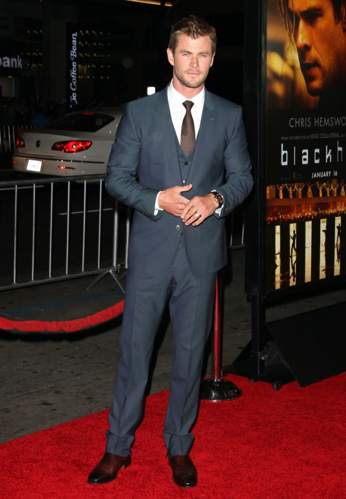 Chris -Hemsworth- in -Dolce- &- Gabbana- -blackhat-la-premiere
