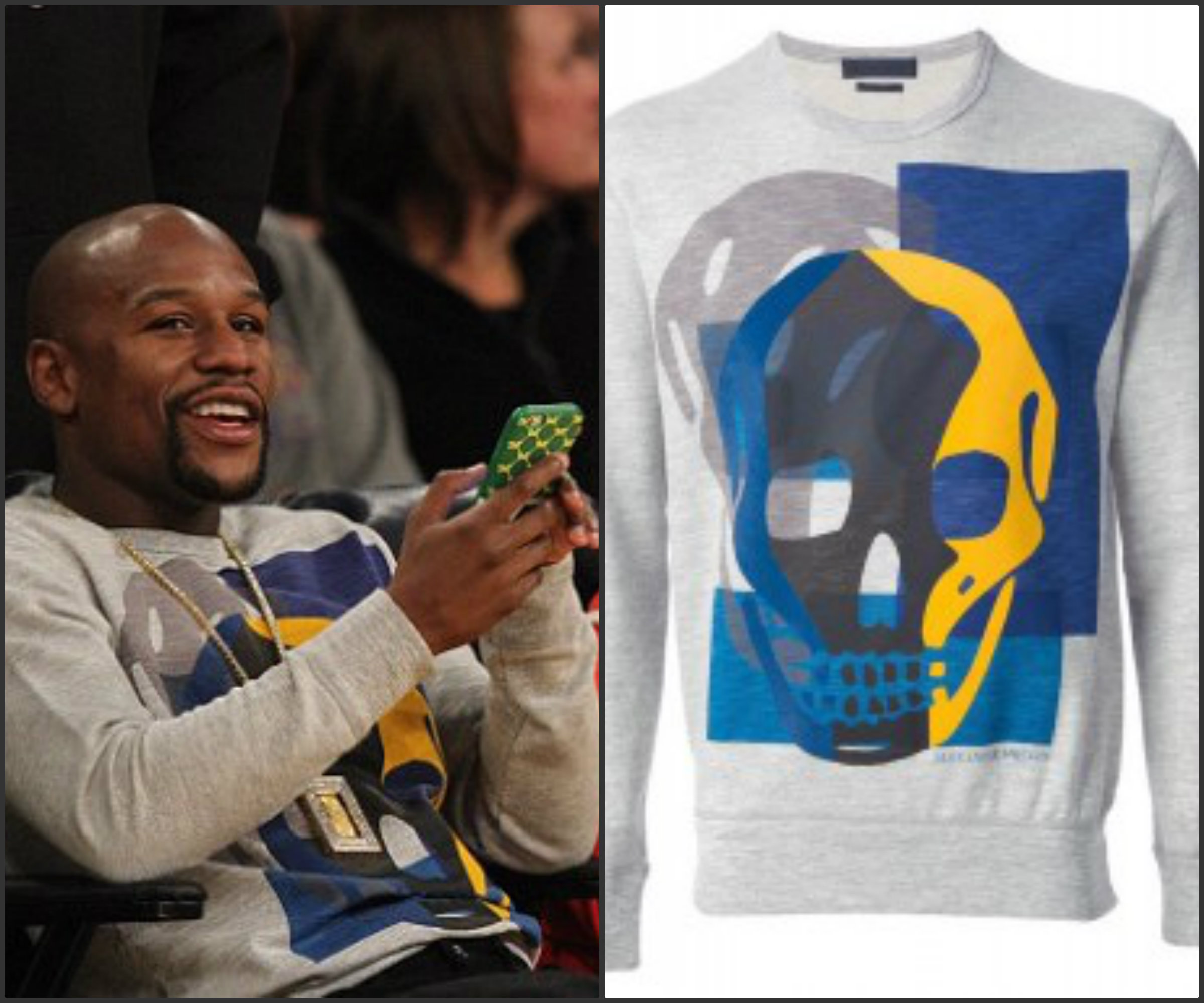 Floyd-Mayweather-sits-courtside-in-Alexander-Mcqueen