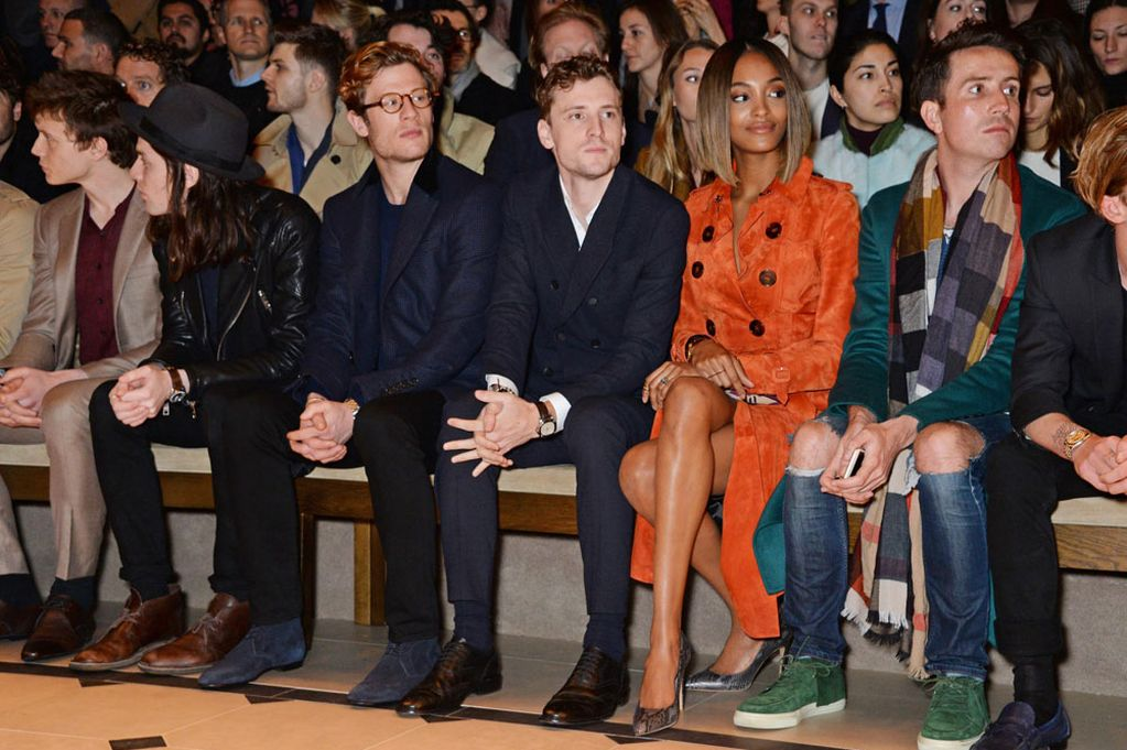 George-Mackay-James-Bay-James-Norton-George-Barnett-Jourdan-Dunn-and-Nick-Grimshaw-attends-the-front-row-at-Burberry